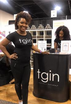 World Natural Hair Show 2018 repping TGIN