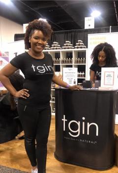 World Natural Hair Show 2018 repping TGIN